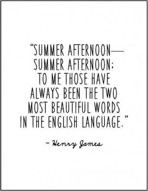 Henry James summer afternoon literary quote by JenniferDareDesigns, $8 ...