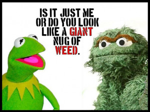 OSCAR THE GROUCH - KERMIT THE FROG - Funny Picture ~ Quote ~