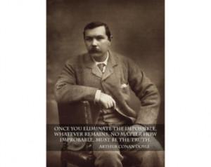 Arthur Conan Doyle Quote Famous Motivational Inspirational Print ...