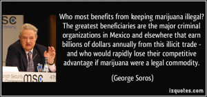 Who most benefits from keeping marijuana illegal? The greatest ...