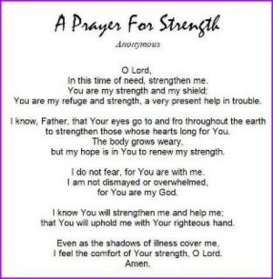 Motivational Wallpaper on Strength : A Prayer For Strength