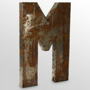Find it at the Foundary - Metal Letter M