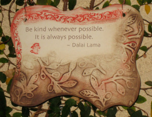 Inspirational Dalai Lama Quote Ceramic Plaque - Sepia
