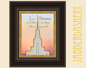 LDS Princess Temple 5x7 Quote Printable by Jabberdashery on Etsy, $5 ...