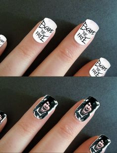 Escape the Fate nail art. Follow the link to get Craig Mabbit on your ...
