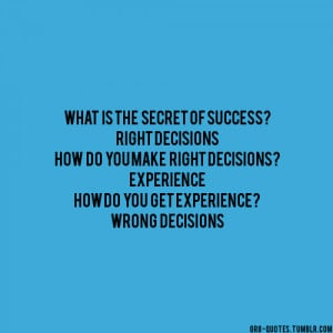 making wrong decisions quotes