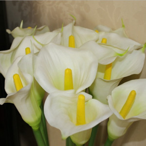 White Calla Lily Silk Flowers Wholesale