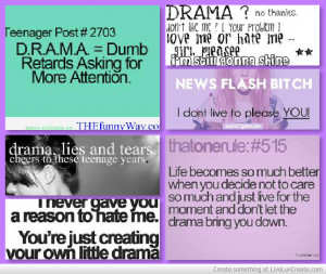 teenage drama quotes