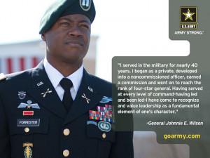 Gen. Johnnie E. Wilson on #leadership