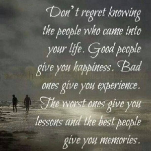 Reasons people come and go in your life