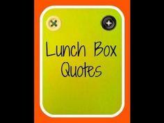 Lunch Box Quote Idea