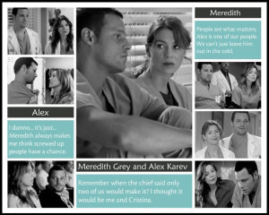 Grey's Anatomy Meredith and Alex: Dark and Twisty Friends