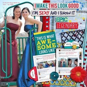 Prom Scrapbook Layouts
