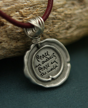 Home Jewelry Thich Nhat Hanh Peace Quote Pendant Necklace