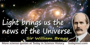 Sir William Bragg Quotes - 8 Science Quotes - Dictionary of ...