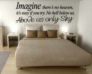 5pcs/lot WALL ART IMAGINE JOHN LENNON QUOTE DECAL STICKER VINYL ...