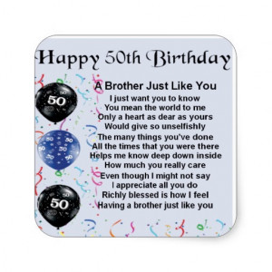 50th Birthday Poems for Men