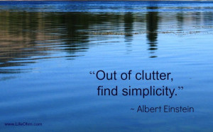 Out of Clutter, Find Simplicity. ~Einstein