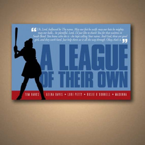 League Of Their Own Movie Quote Poster by ManCaveSportsSigns, $16.00
