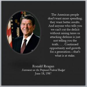 Reagan's wisdom