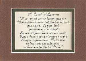 All Sports COACH Football Baseball verses poems plaques