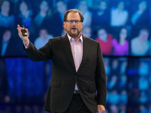 CEO Marc Benioff promised that Salesforce would hit about $6.5 billion ...