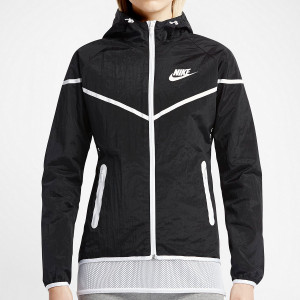 Black and White Nike Windrunner Jacket