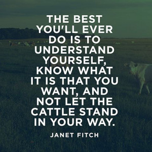 ... you want, and not let the cattle stand in your way. — Janet Fitch