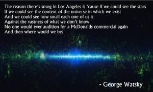 ... smog in Los Angeles...