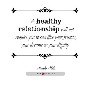 Mandy hale a healthy relationship quote