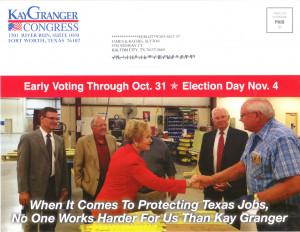Kay Granger Nov General Election flyer 1 page 1A