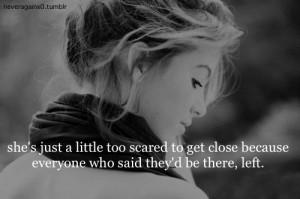 ... , blackandwhite, broken, girl, image, left, love, scared, text, white