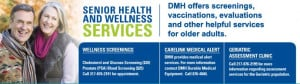 services focusing on the health and wellness of adults 55 and older