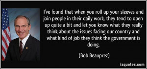 ... what kind of job they think the government is doing. - Bob Beauprez