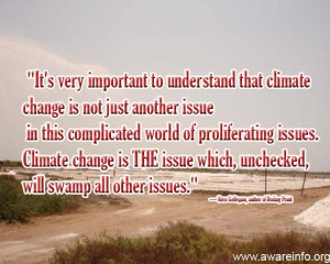 It is important to understand that climate change is not just another ...