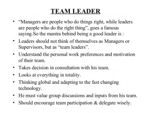 Go Back > Gallery For > Team Leader Quotes