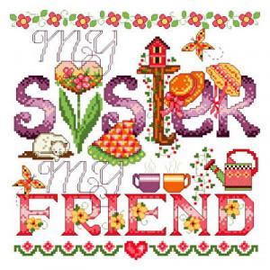cross stitch pattern Sisters
