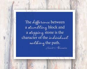 Stepping Stone, Travis Alexander Legacy Print, 8x10 Quote Print ...