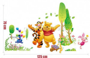 Winnie the Pooh Tiger IV - Removable Wall Sticker Decal for kids Decor ...