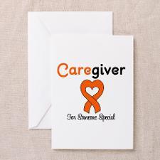 Caregiver Orange Ribbon Greeting Cards (Pk of 10) for