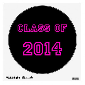 class_of_2014_pink_customized_graduation_template_walldecal ...