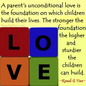 Parent's Love Builds A Child's Future, Picture Quote
