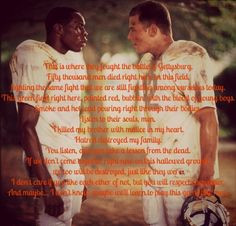 Remember the Titans. One of my favorite movies of all time! More