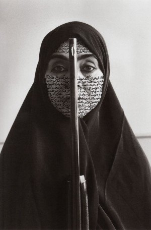 Credits: Shirin Neshat, Untitled: Woman with a gun