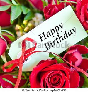 ... happy birthday 3 5 x 2 25 happy birthday colorful roses happy birthday