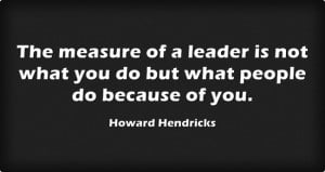 What are the responsibilities of a leader?