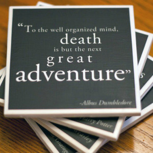 ... www.etsy.com/listing/77607756/quoting-harry-potter-drink-coasters Like