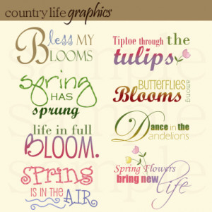 Spring Word Art Mini Collection
