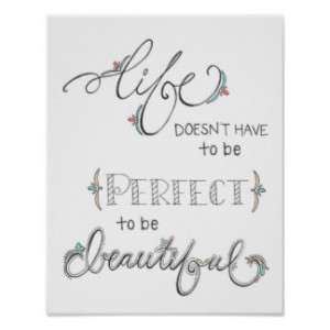 life is beautiful- colored- hand drawn typography poster