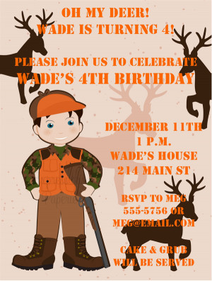 Shop our Store > Little Boy Deer Hunting Birthday Party Invitations